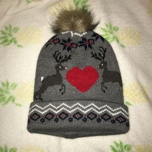 Light Up Reindeer/Christmas Cold Weather Beanie